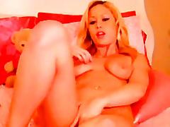 Gorgeous Golden-Haired Masturbating with a Biggest Marital-Device