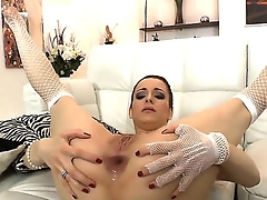 Lizaveta K. spreads their way pounding legs inviting powerful and experienced Omar Galantis dick anent their way asshole