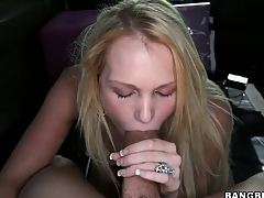 The cute blonde slides that weasel words down will not hear of throat added to displays will not hear of blowjob abilities