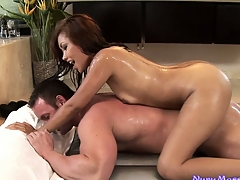 This frying stud is a big fan of Nuru kneading and it's no wonder with this hot Asian babe