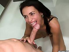 Vivian Sanchez is a sex addict who loves dudes erect cock so much