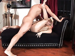 Coco Velvett gets her many times used brashness stuffed again hard by horny man