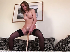 Blonde Haley keeps her fingertips beat to fright penetrated over and over often