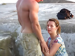 Crude babe gets fucked outdoors