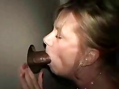 Gloryhole unskilful wife