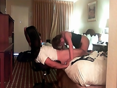Hot lay blowjob at hand the hotel room