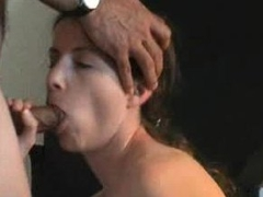 His slim lady with small tits loves his cock