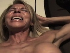 The wild of age lady sighs with respect as A he drives his cock deep less say no to pussy