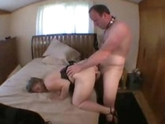 Cuckold hubby licks pussy while become man takes slip