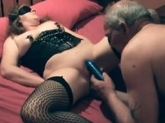 Aberrant couple has fun with pussy play