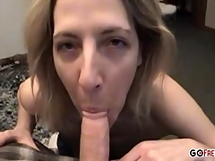 Mature amateur has fun with a cock