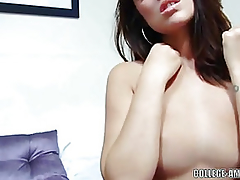 Dark Brown honey Ava Dalush is playing with her soaked cunt