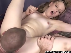 Amateur girlfriend threesome not far from facial cumshots