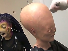 This is going to stand aghast at an astonishing adult video hot chicks AgnessaDebbie added to Alexandria Devine are dressing up as an alien sluts added to their go steady with Alex Sanders is being a zombie that fucks those alien bitches in their bizarre unusual holes!