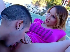 Pulchritudinous teen babe Aleska Diamond is showing to her boyfriend her marvelous asshole, space fully wearing her fetching underwear with the addition of making him tease her all over.