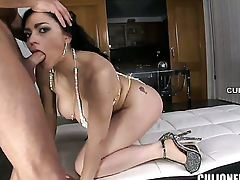 Flirtatious vixen Marta La Croft gets slam fucked in her love hole by hot man