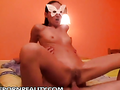 Teen gives herself some asshole stimulation with the help of her toy
