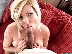 Gorgeously sexy coddle Chintia Flower makes guys sausage harder with her master hands
