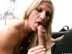 Sex hungry whore sucking like it aint no bit in said action with hot blooded guy