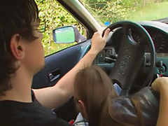 Amateur teen shacking up in car