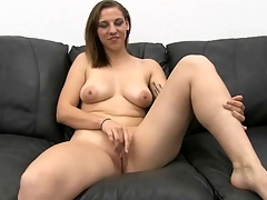 Curvy amateur strips vacant and gets fucked