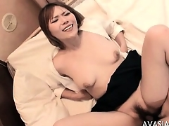 Cute asian hardcore doggy fuck and pay off
