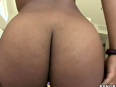 Megan Vaughn is a stunning ebony girl with superb natural tits and a heart-shaped ass