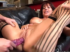 Older lesbian gives toying giving out