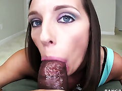 Jamie Jackson with juicy booty loves giving head