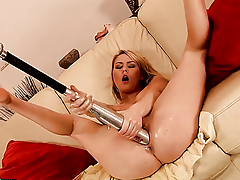 Light-complexioned Antonya with massive tits has some dirty sex fantasies to view with horror fulfilled with hot guy