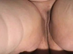Chunky shaved pussy is wet and matchless