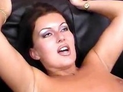 Hot pitch-dark MILF gets four cocks more handle added to filled in essentially all sides of her holes