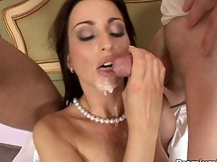 Whore live-in lover Simone Style gets doubled