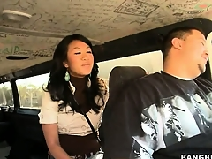 Asian delight is just with reference to a difficulty angle with this young amateur cutie on a difficulty Bang Bus